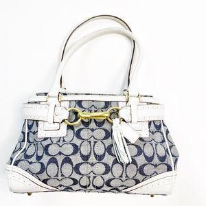 🔥COACH Signature Hampton Handbag